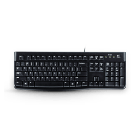 Logitech K120 USB Keyboard, Spill-Resistant with Quiet Typing