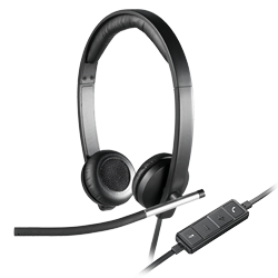 USB headset stereo H650e, facing left