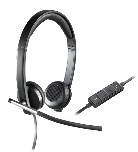 USB headset stereo H650e, with controls