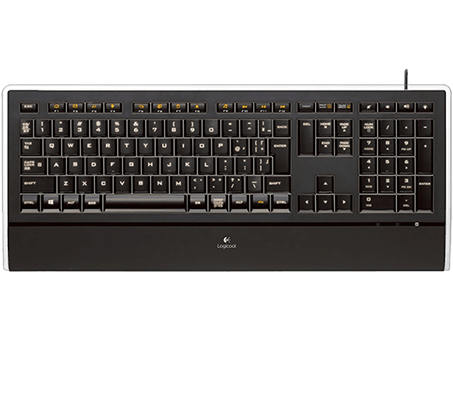 Illuminated Keyboard K740 Logicool keyboard layout, full view