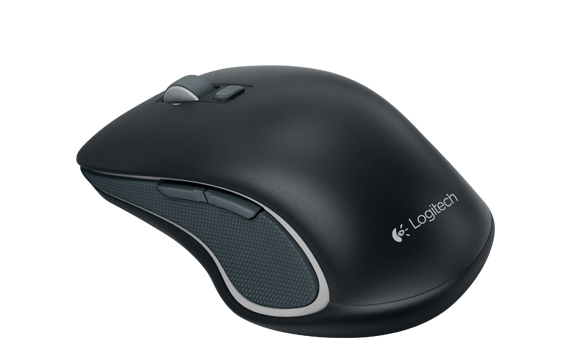 Wireless Mouse M560, top and side view