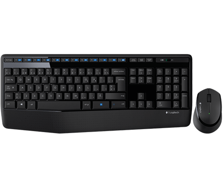 Wireless Combo MK345 mouse and keyboard product top shot French keyboard layout
