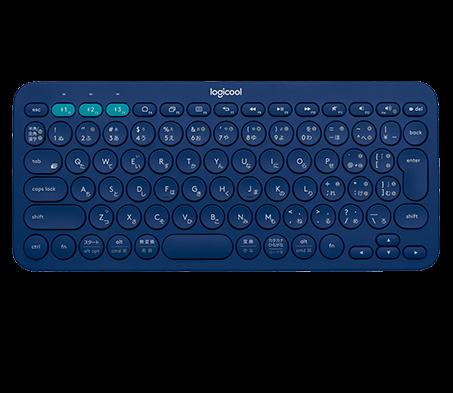 K380 Multi-Device, blue, top view
