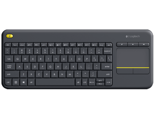 Logitech Wireless Touch Keyboard K400 Plus - PC-to-TV control 59933cb48aae0