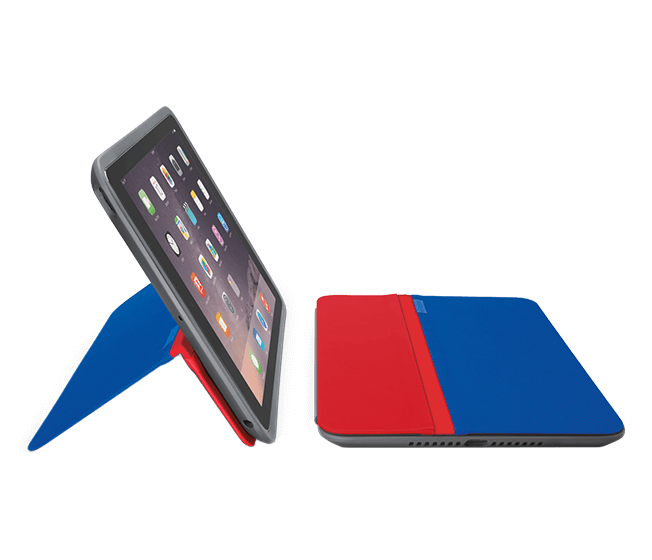 AnyAngle iPad case red and blue