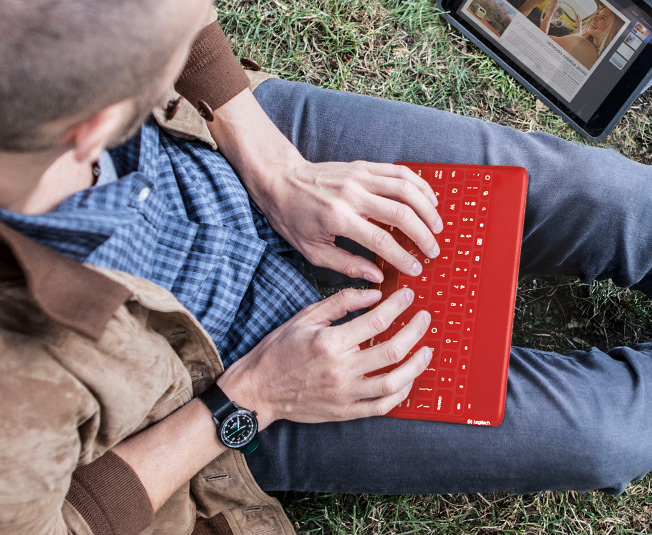 Keys-to-Go iPad keyboard in lap