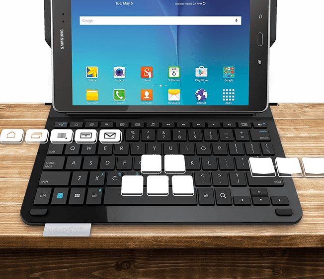 Logitech Type S Galaxy Tab Keyboard Case For Tab A And