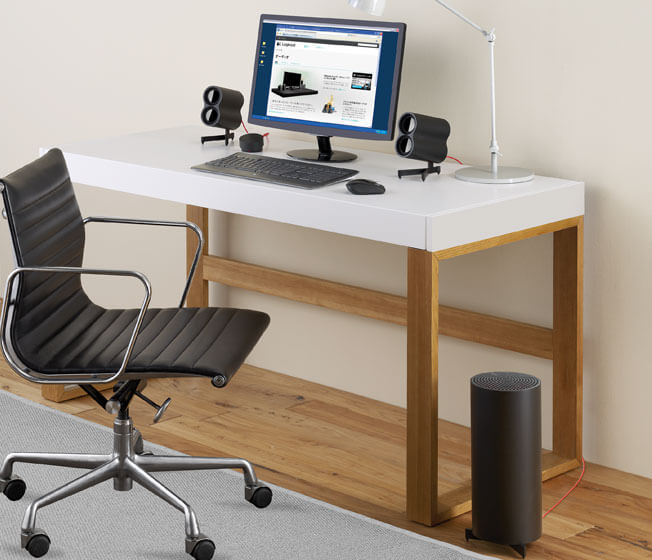 Logitech Z553 speaker system in use