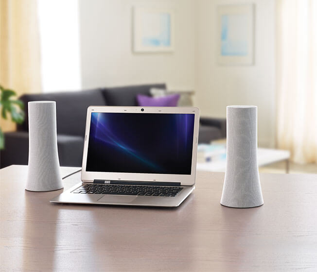 Logitech Z600 Bluetooth Speakers in use