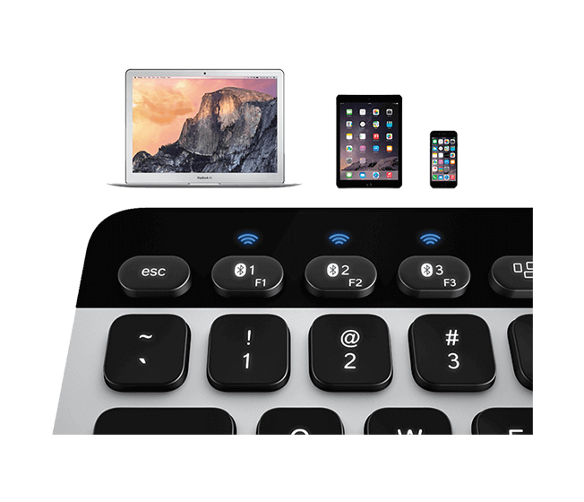 Bluetooth Easy-Switch Keyboard K811 for Mac, iPad and iPhone 4