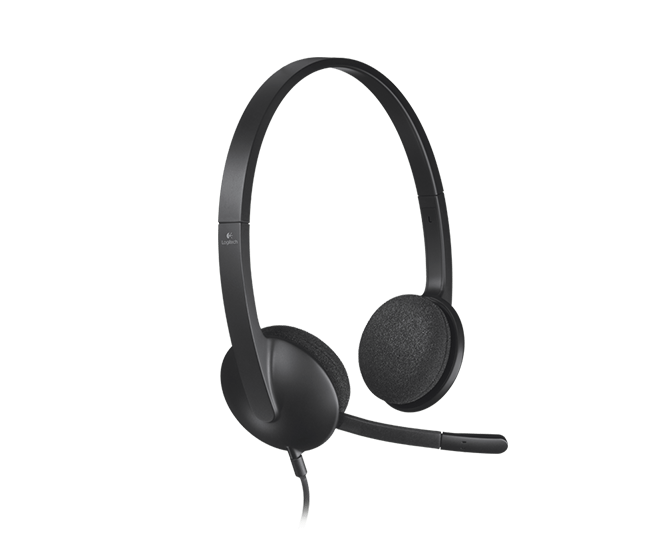 Stereo Usb Headset With Microphone H340 Logitech