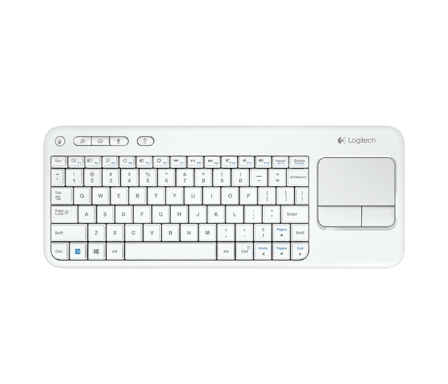 Wireless Touch Keyboard K400 white