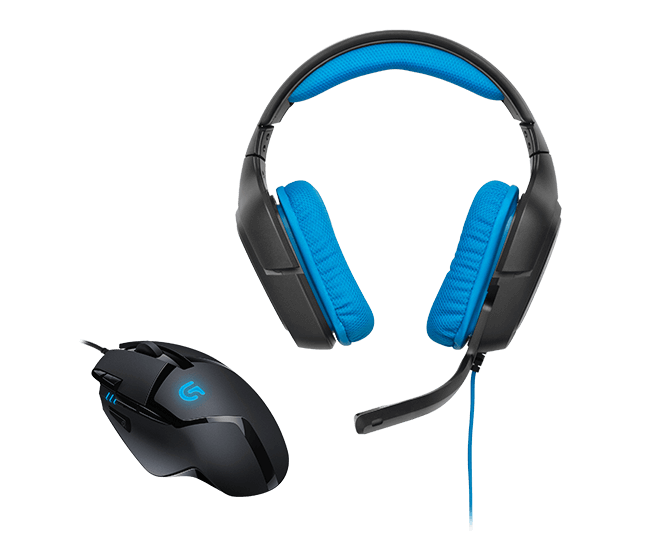 Logitech G430 Surround Sound Gaming Headset with G402 Hyperion Fury Mouse