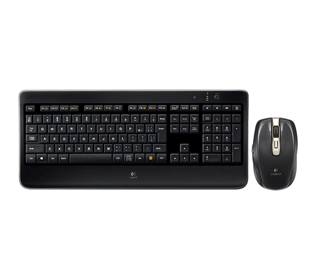 Wireless Illuminated Keyboard K800 & Anywhere Mouse MX Bundle