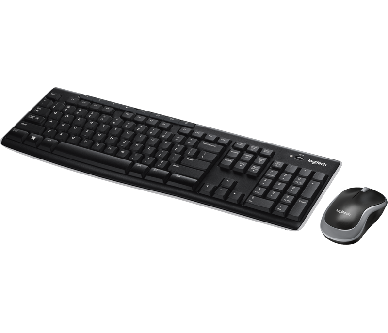 Logitech MK270 Wireless Keyboard and Mouse Combo with Media Shortcut