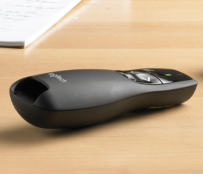 3072e2defdf Logitech R400 Wireless Presentation Remote with Laser Pointer & 15m ...