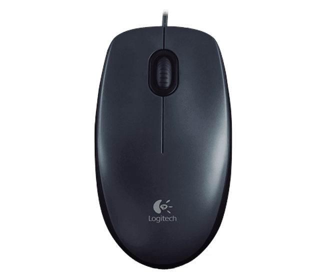 LOGITECH M100 Mouse Grey USB - Langalliset Hiiret - 5099206070462 - 1