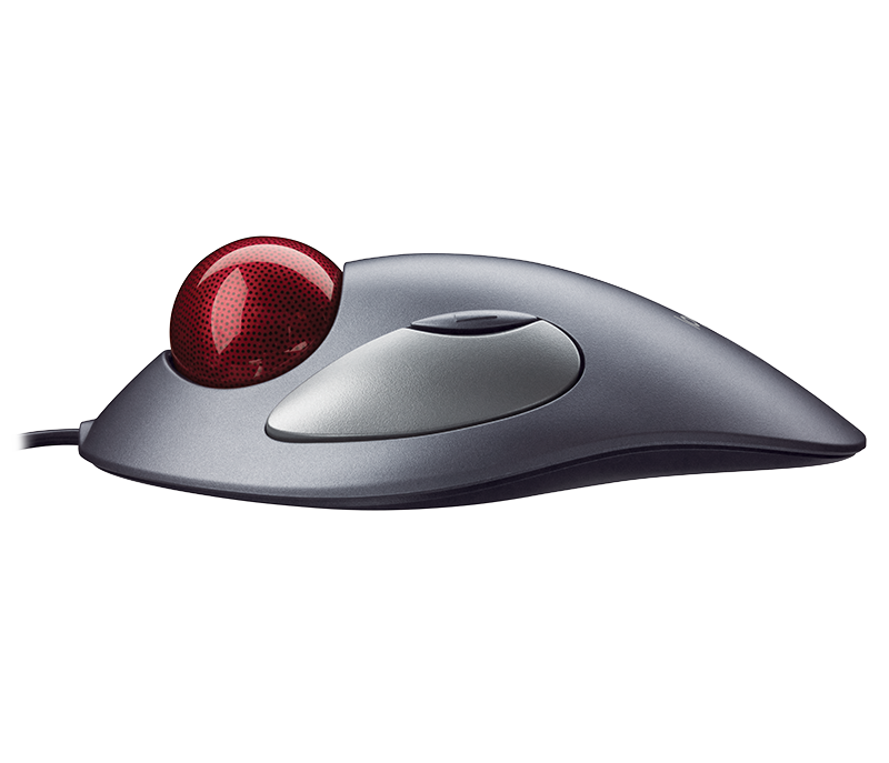 Trackman Wheel trackball mouse profile