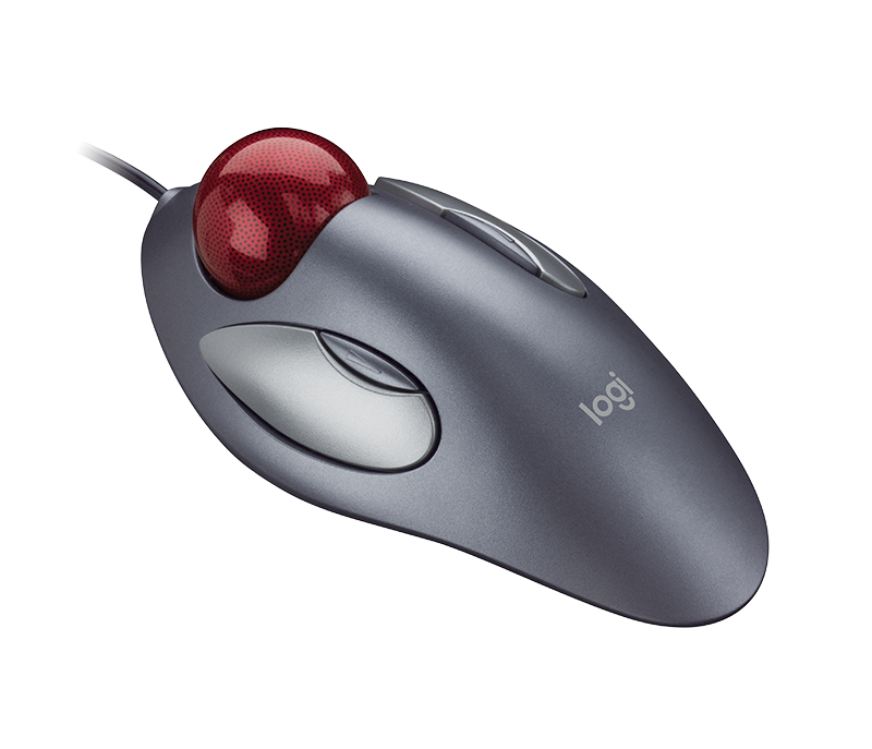 Trackman Wheel trackball mouse side view