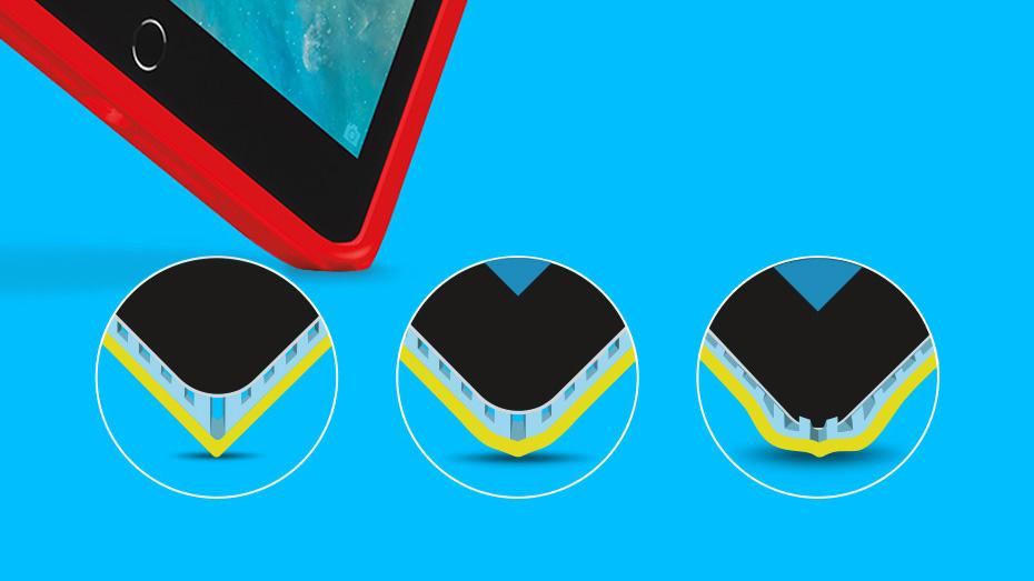 Blok shell for iPad Air2 and iPad mini corners