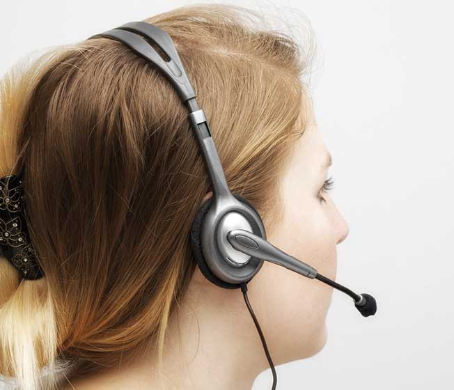 Stereo Headset H110 on a woman