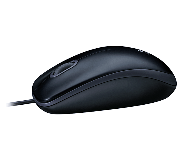 Mouse M90 black mouse product profile shot