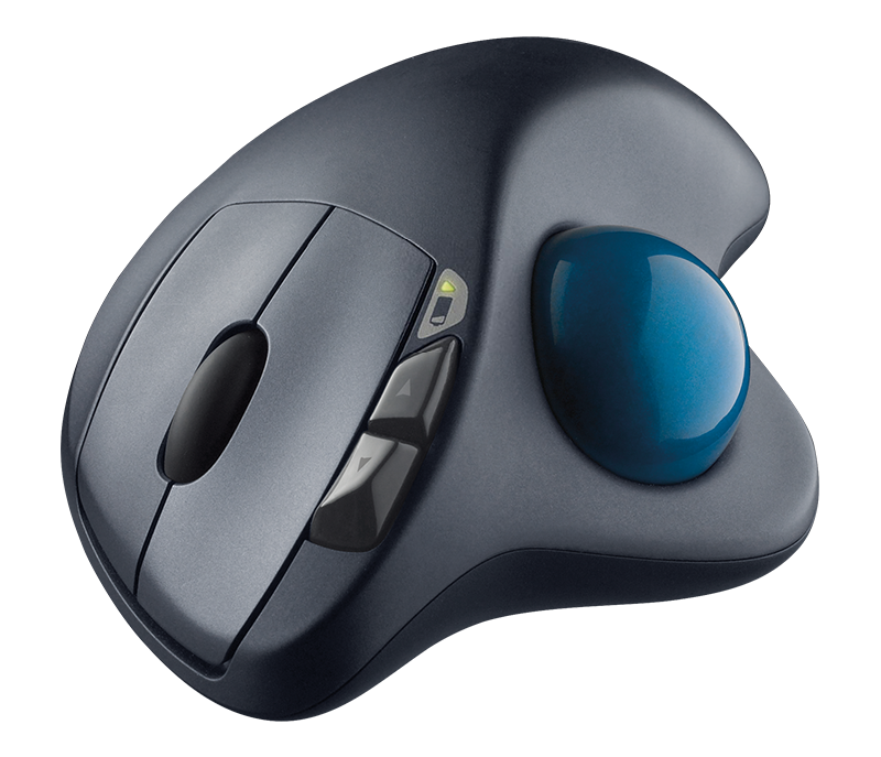 Wireless Trackball M570 product face shot, showing 3 buttons
