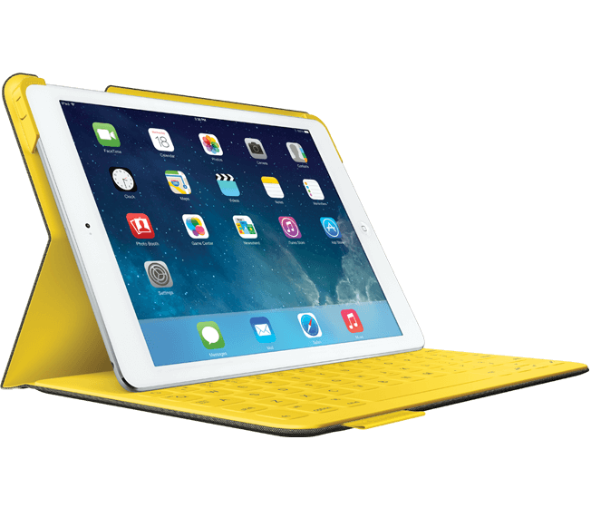 Fabricskin keyboard folio for ipad mini yellow