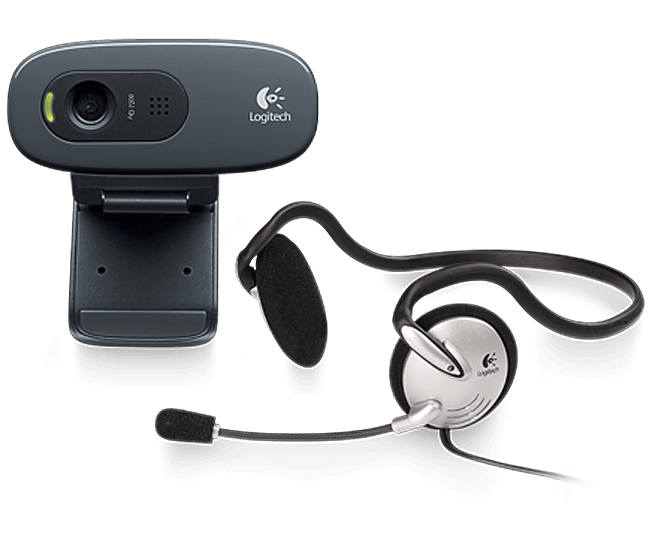 Logitech 270H webcam and headset
