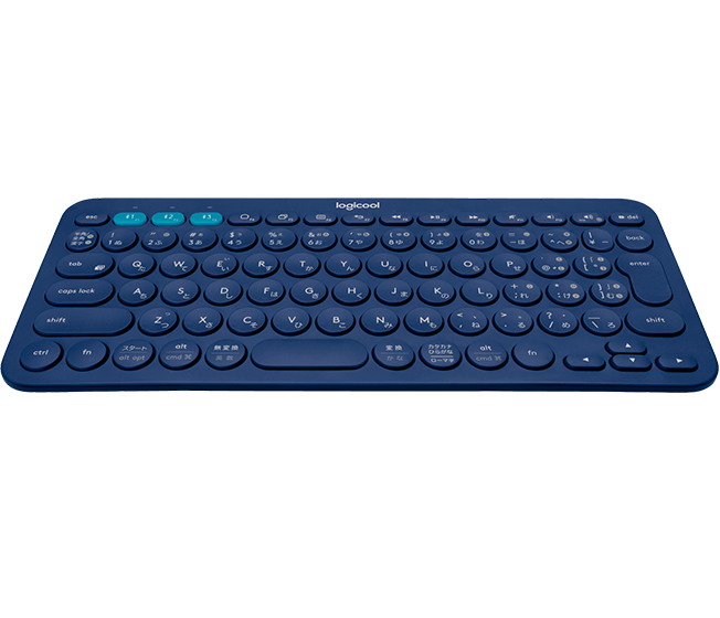 K380 Bluetooth Keyboard, Logicool, Blue, top view