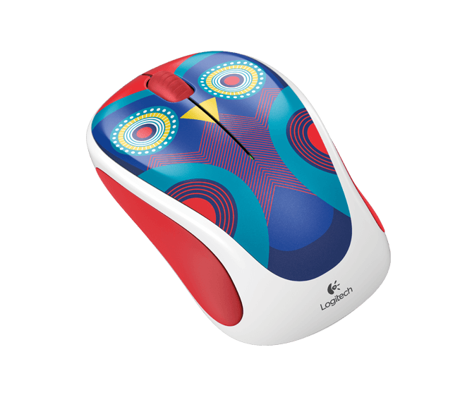 Wireless Mouse M317c Owl, angle view