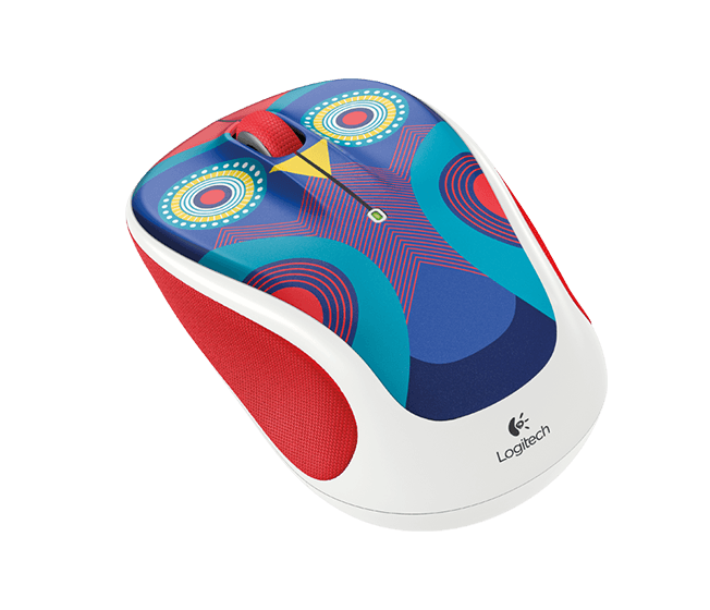 Wireless Mouse M325c, owl mouse, angle view
