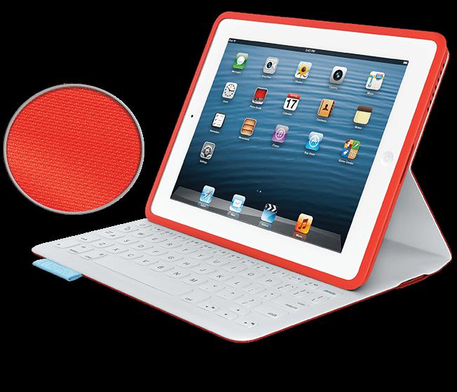 FabricSkin keyboard folio iPad Orange