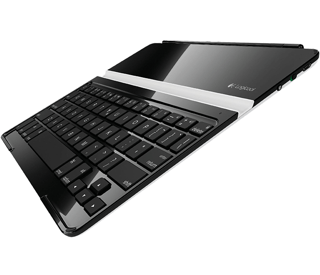 Ultrathin Keyboard Cover, Logicool, black, angle view