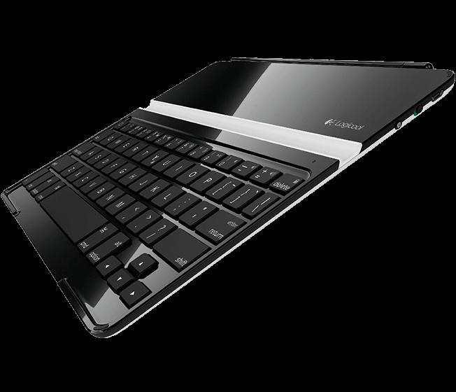 Ultrathin Keyboard Cover, Logicool, black, angle view