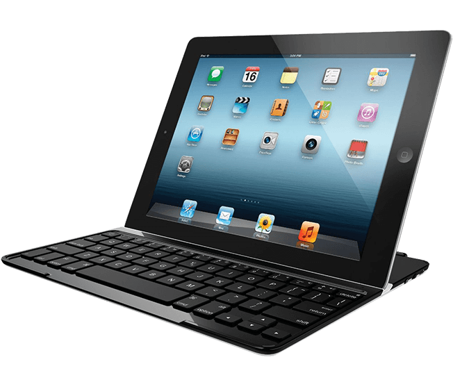 Ultrathin Keyboard Cover, Logicool, black, full view