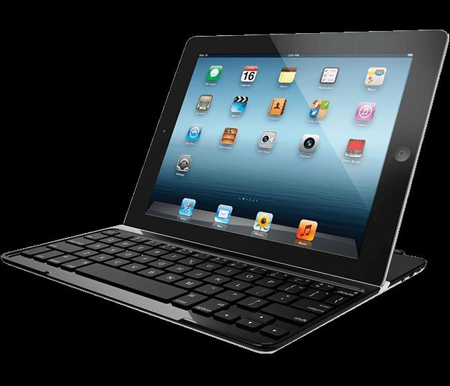 Ultrathin Keyboard Cover, Logicool, black, full view
