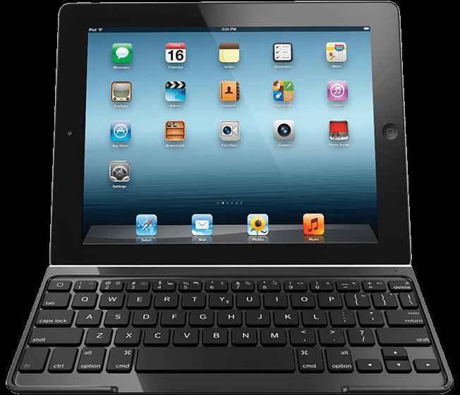 Ultrathin Keyboard Cover, Logicool, black, top view
