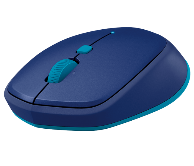 M535/M337 Bluetooth mouse, blue, face view