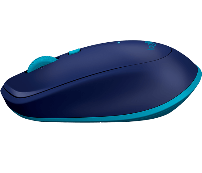 M535/M337 Bluetooth mouse, blue, profile view