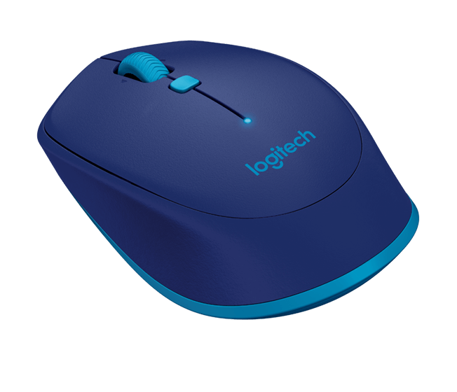 M535/M337 Bluetooth mouse, blue, angle view