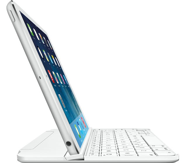 Ultrathin Magnetic clip-on keyboard cover for iPad mini, Logicool, full view
