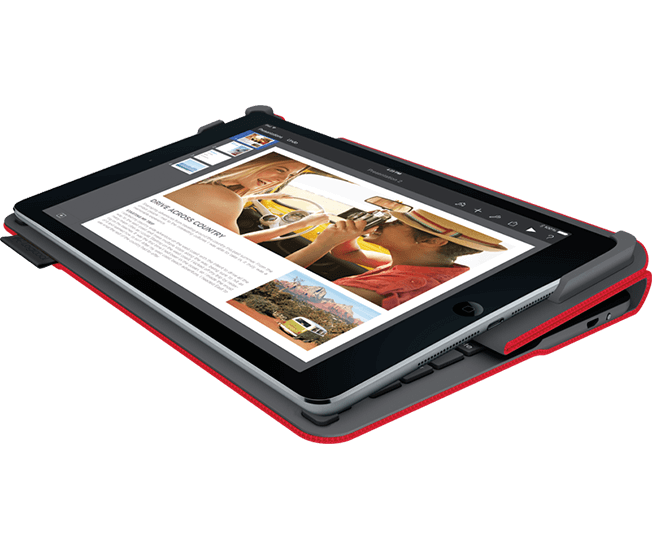 Type + for iPad Air 2, Logicool, Red, folding view