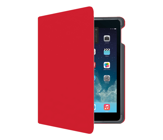 Type + for iPad Air 2, Logicool, Red, vertical view
