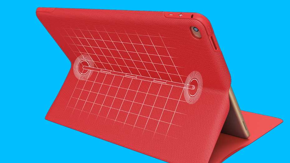 Micro-hinge system is explained using CREATE Protective Case's red color