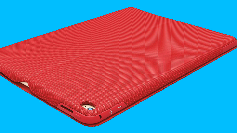 iPad Pro in CREATE Protective Case red color, closed view