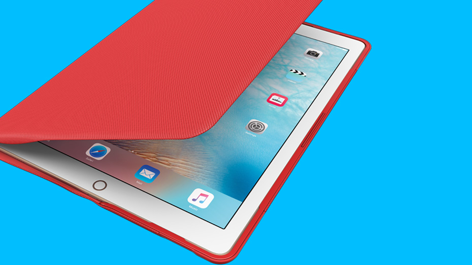 iPad Pro in CREATE Protective Case red color