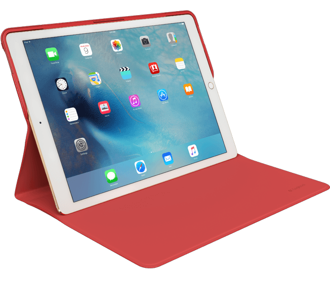CREATE Protective Case, Classic Red|Gold color for iPad Pro, side view