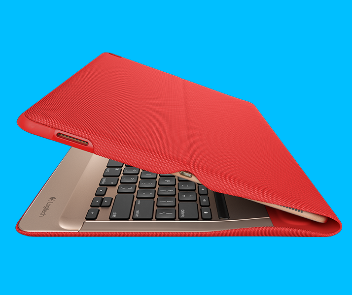 CREATE Backlit Keyboard for iPad Pro red color version's side view