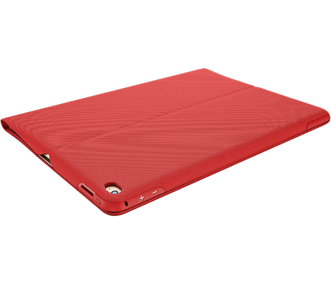 CREATE Backlit Keyboard with Smart Connector for iPad Pro, Classic Red|Gold, case closed view